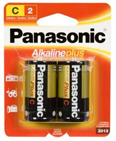 Panasonic Alkaline Plus Battery C-2(2 Packs)