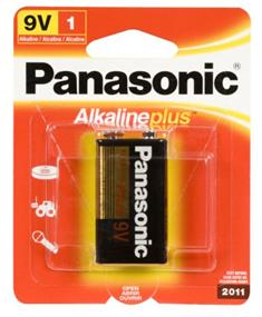 Panasonic Alkaline Plus Battery 9V-1(1 Pack)