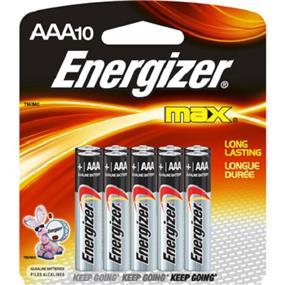 Energizer Max 10xAAA Alkaline Battery (E92BP10)