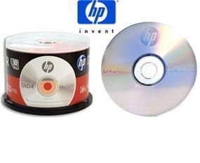 HP DVD-R4.7GB Full Logo (Branded) Surface 16X 50 PACK CAKE BOX (DM16050CB)