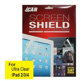 iCAN Ultra Clear Screen Protector for iPad 2/3/4 (Front)