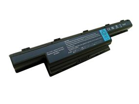 iCAN Compatible Acer Aspire Series Laptop Battery 9-Cell Li-ion(Samsung Cell) 6600mAh-Black