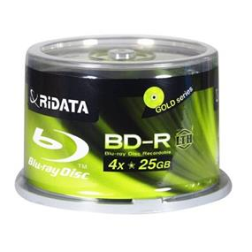 Ridata BD-R 25G 4X  Low To High Hub Printable Cake Box 50Packs (BDR-254-RDIWNCB50L)