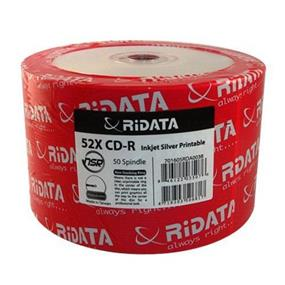 Ridata CD-R 52X  Inkjet Silver NSR Shrink Wrap 50Packs(R80JS52-RD-IS50N)