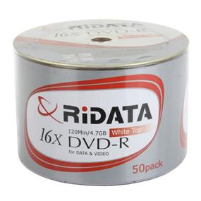 Ridata DVD-R 16X White Top NSR 50Packs ( DRD-4716-RD50WTW)