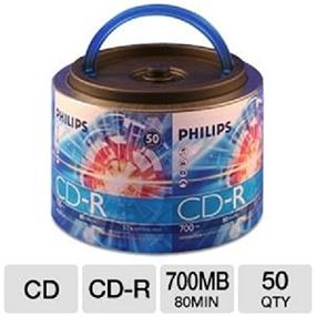 Philips CD-R 52X 80min Spindle With Handle 50Packs (CR7D5NH50/17)