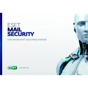 ESET Mail Security for Microsoft Exchange Server, 1 License, 1 Year Standard, Tier C (25 - 49 Users)