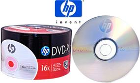 HP DVD-R47 16X Full Logo Surface Bulk Color Wrap 50Packs(DM00070B)