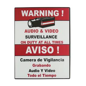 "Vonnic Surveillance Warning Sign 7"" x 9"""