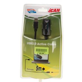 iCAN USB3.0 Active Extension Type A Male to Female - 5 Meter(15ft) (USB3-ACTEXT-05M)
