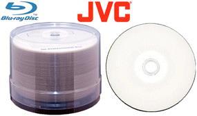 JVC/Taiyo Yuden BD-R  6X  25GB LTH White Inkjet Printable in Hub 50 Pack Cake Box(J-BDR25WPP50B6L-C)