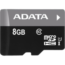 ADATA Premier 8GB microSDHC UHS-I Class 10 Flash Memory Card w/Adapter Upto 50MB/s Read  (AUSDH8GUICL10-RA1)