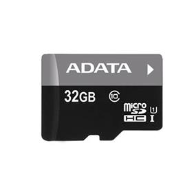 ADATA Premier 32GB microSDHC UHS-I Class 10 Flash Memory Card w/Adapter Upto 50MB/s Read, 10MB/s Write (AUSDH32GUICL10-RA1)