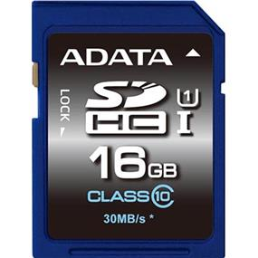 ADATA Premier 16GB SDHC UHS-I Class 10 Flash Card Upto 50MB/s Read, 10MB/s Write   (ASDH16GUICL10-R)