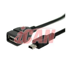 """iCAN USB OTG A Female-Mini 5 B Male Dongle - 5"""" (ADP USBOTG-M5B)"""