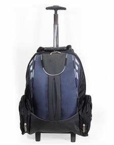 "iCAN 15.6"" Laptop Trolley Backpack - Blue and Black, Nylon"