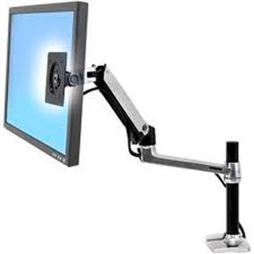 Ergotron (45-295-026) LX Desk Mount Single LCD Arm, Tall Pole