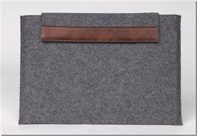 iCAN Notebook Sleeve - Grey, Flocking Material