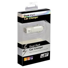LBT Dual Port USB Car Charger for all USB devices