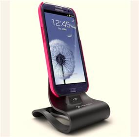 KONNET iCrado PRO - Stylish Metal Stand/Dock for Samsung Galaxy S4/S3/S2/Note/Note2 - Black