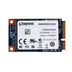 Kingston SSDNow mS200 120GB mSATA 6Gb/s Solid State Drive (SSD), Read: 550MB/s Write: 520MB/s (SMS200S3/120G )