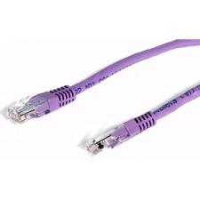 StarTech Purple Molded CAT5e (350 MHZ) UTP Patch Cable - 3 ft. (M45PATCH3PL)
