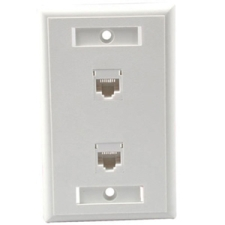 Cables To Go Cat5e RJ45 Configured Dual Wall  - White (27416)