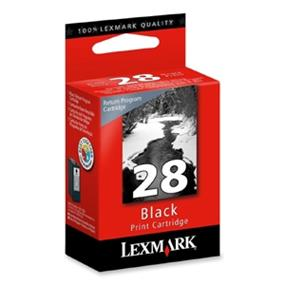 Lexmark #28 18C1428 Return Program Black Ink Cartridge - Black - Inkjet - 175 Page