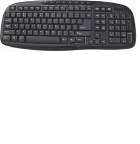iCAN KB100 Multimedia Keyboard, Wired USB port, Black