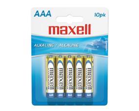 Maxell 10xAAA 1.5V Alkaline Batteries(723810)