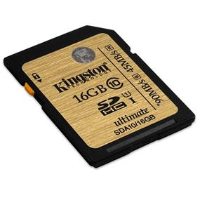 Kingston Ultimate 16GB (Class 10 UHS-I) SDHC Card - Up to 90MB/s read, 45MB/s write (SDA10/16GBCR)