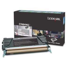 Lexmark C746H1KG C746, C748 Black High Yield Return Program Toner Cartridge - Black - Laser - 12000 Page