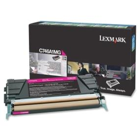 Lexmark C746A1MG C746, C748 Magenta Return Program Toner Cartridge - Magenta - Laser - 7000 Page