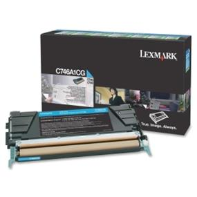 Lexmark C746A1CG C746, C748 Cyan Return Program Toner Cartridge - Cyan - Laser - 7000 Page