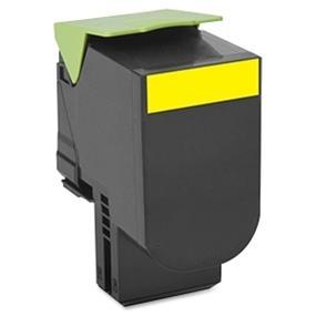 Lexmark 80C1SY0 801SY Yellow Standard Yield Return Program Toner Cartridge - Yellow - Laser - 2000 Page - OEM