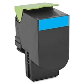 Lexmark 80C1SC0 801SC Cyan Standard Yield Return Program Toner Cartridge - Cyan - Laser - 2000 Page