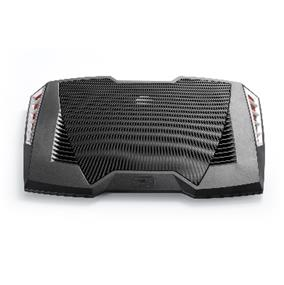 "Deepcool M6 Audio Notebook Cooler - Up to 17"",  3 Speakers (tweeter unit×2; woofer unit×1), Big 140mm fan, 4 Standard USB ports + 1 USB Micro Port, Fan Speed Adjustable"