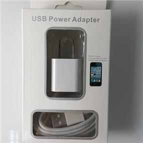 2in1 Charging Combo, USB Wall Charger + 30 Pin USB Data Sync Cable For iPhone