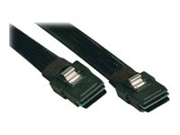 Tripp Lite - (S506-18N) Serial Attached SCSI (SAS) internal cable - with Sidebands - 4-Lane - 36 pin 4i Mini MultiLane - 36 pin 4i Mini MultiLane - 1.5 ft - black