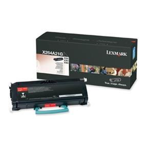 Lexmark X264A21G Black Toner Cartridge - Laser - 3500 Page