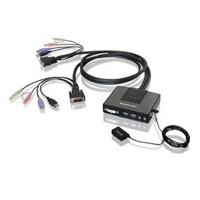 IOGEAR GCS982U KVM Switch - 2 Computer(s) - 6 x USB - 3 x DVI