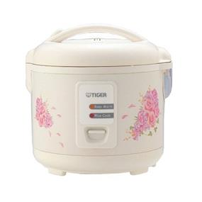 Tiger JAZ-A10U 5.5 Cups Traditional Electric Rice Cooker / Steamer - White (JAZ-A10U)