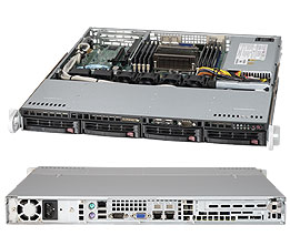 Supermicro SuperServer 5017R-MTF Barebone System - 1U Rack-mountable - Intel C602 Chipset - Socket R LGA-2011 - 1 x Processor Support - Black - 256 GB Maximum RAM Support - Serial ATA/600 RAID Supported Controller - Matrox G200eW Graphics Integrated - 4 x Total Bays - 1 x Total Expansion Slots - Processor Support (Xeon)