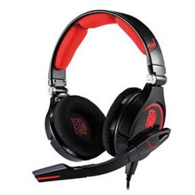 Thermaltake Tt eSports CRONOS Wired Gaming Headsets for PC and Mobile Devices - Black and Red (HT-CRO008ECBL)  (A)