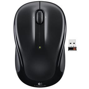 Logitech M325 Wireless Mouse 2.4GHz w/ Nano Logitech Unifying Receiver - Black (910-002974)
