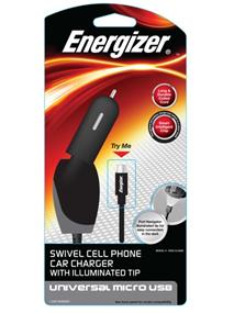 Energizer Swivel Car Charger with LED- Micro USB