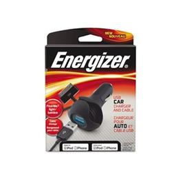 Energizer Travel Charger with LED-iPod/iPhone 30 pin -MFI Black color