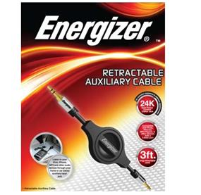 Energizer Auxiliary Cable- Retractable