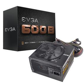 EVGA 600W 80Plus Bronze Certified Power Supply 3 Year Warranty (100-B1-0600-KR)