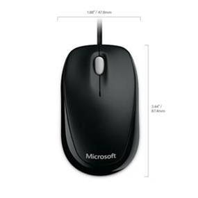 Microsoft Compact 500 Optical Mouse for Business - Black (4HH-00001)